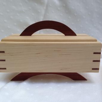 Small box (detail); Maple, Cocobolo