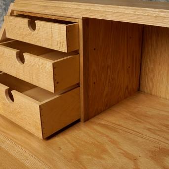 Secretary bookcase (detail, drawers)