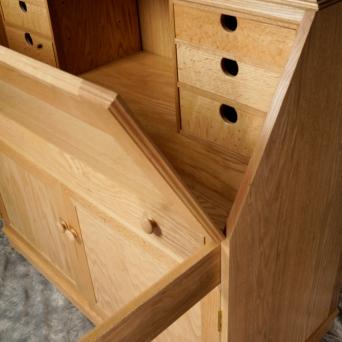 Secretary bookcase (detail, drop front)