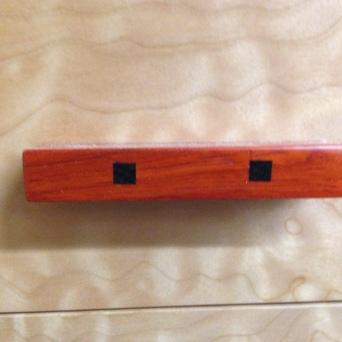 Jeweler's bench (drawer pull detail)
